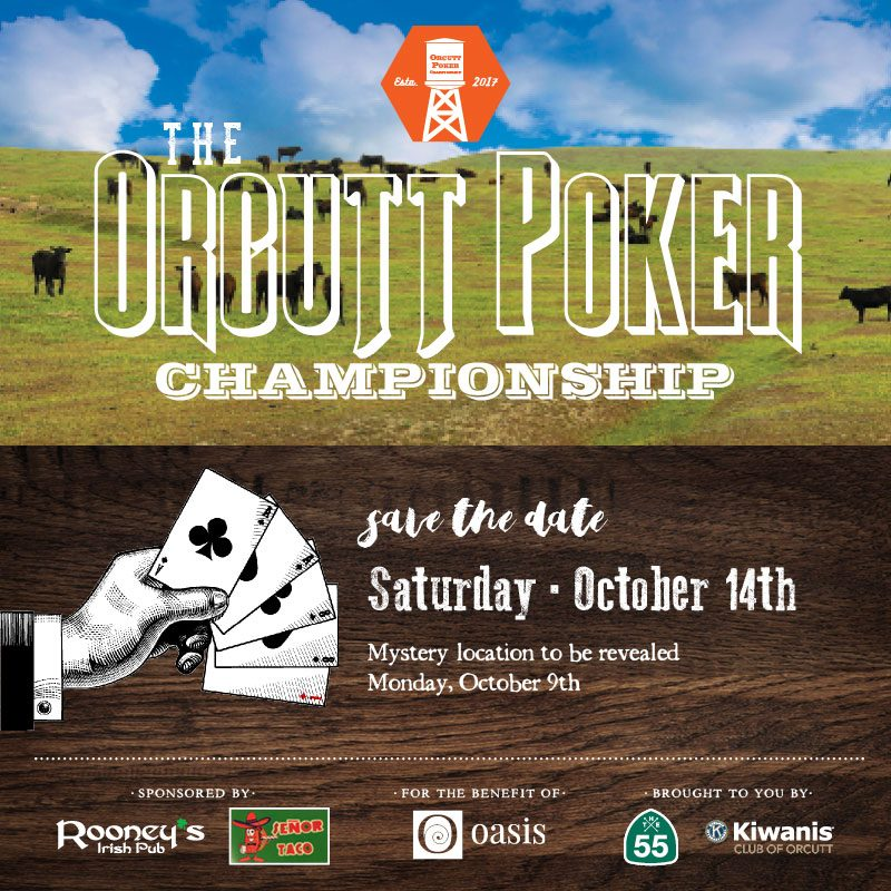 Orcutt Poker Championship 2017 save the date poster
